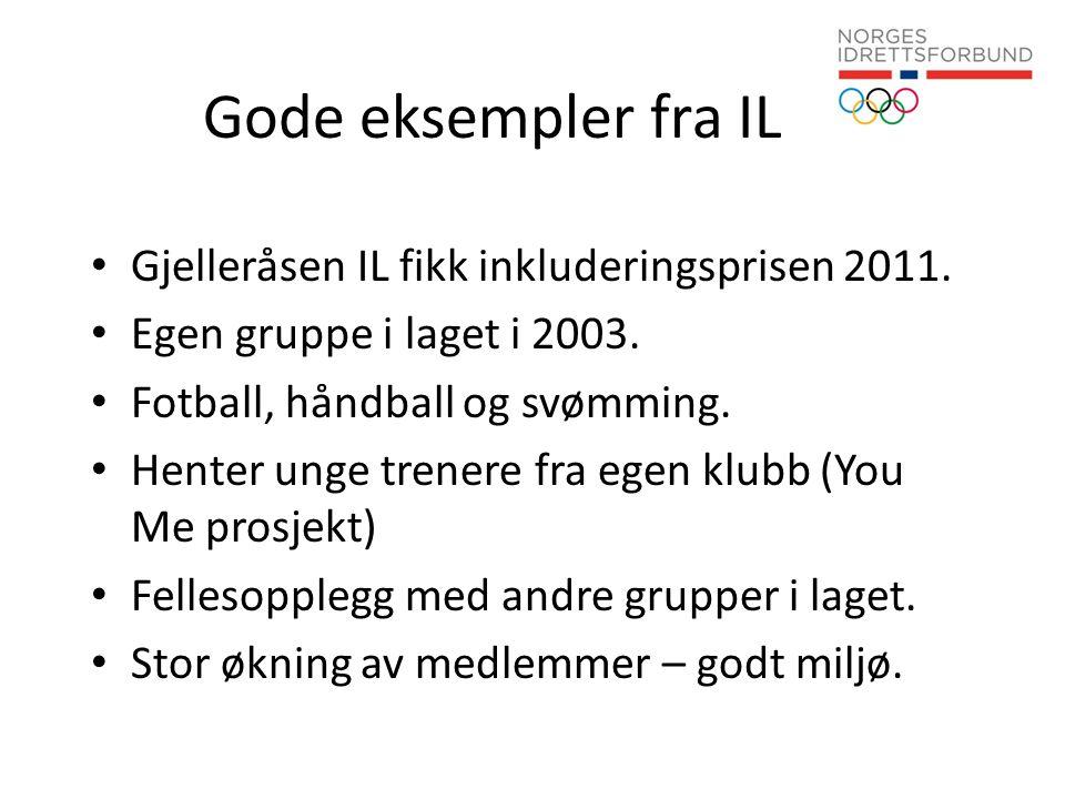 Gode eksempler fra IL Gjelleråsen IL fikk inkluderingsprisen 2011.