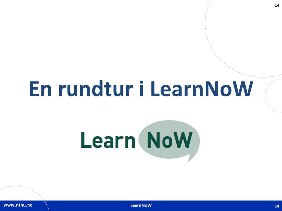 LearnNoW En rundtur i LearnNoW