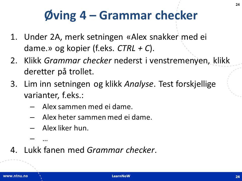 Øving 4 – Grammar checker
