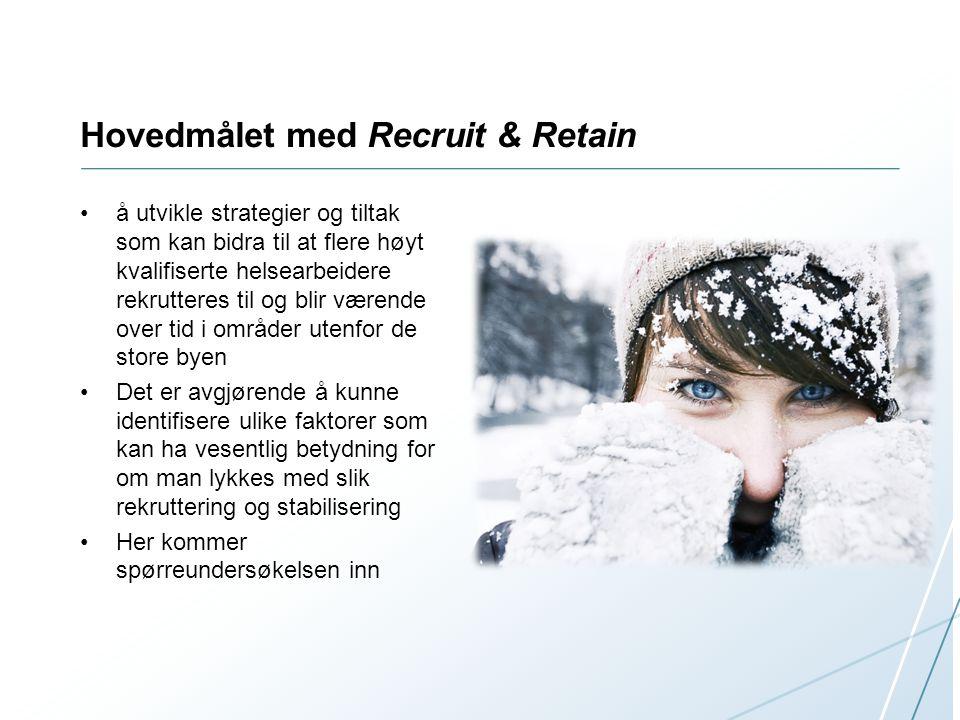Hovedmålet med Recruit & Retain