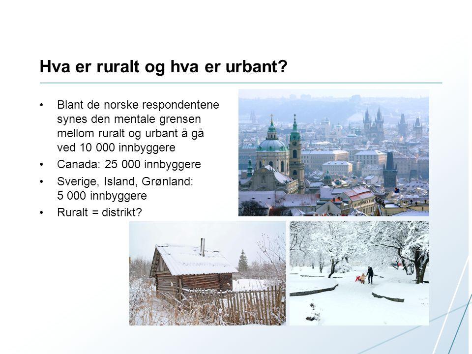 Hva er ruralt og hva er urbant