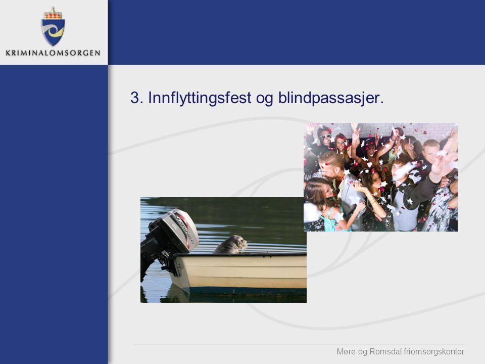 3. Innflyttingsfest og blindpassasjer.