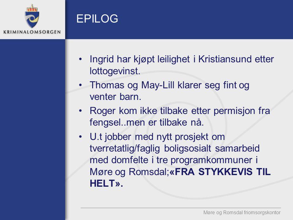 EPILOG Ingrid har kjøpt leilighet i Kristiansund etter lottogevinst.