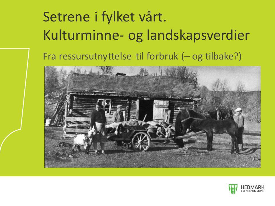 Setrene i fylket vårt. Kulturminne- og landskapsverdier