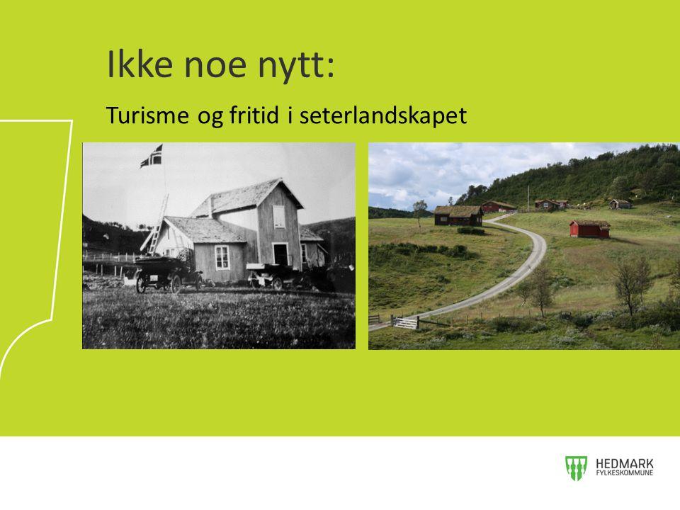 Ikke noe nytt: Turisme og fritid i seterlandskapet