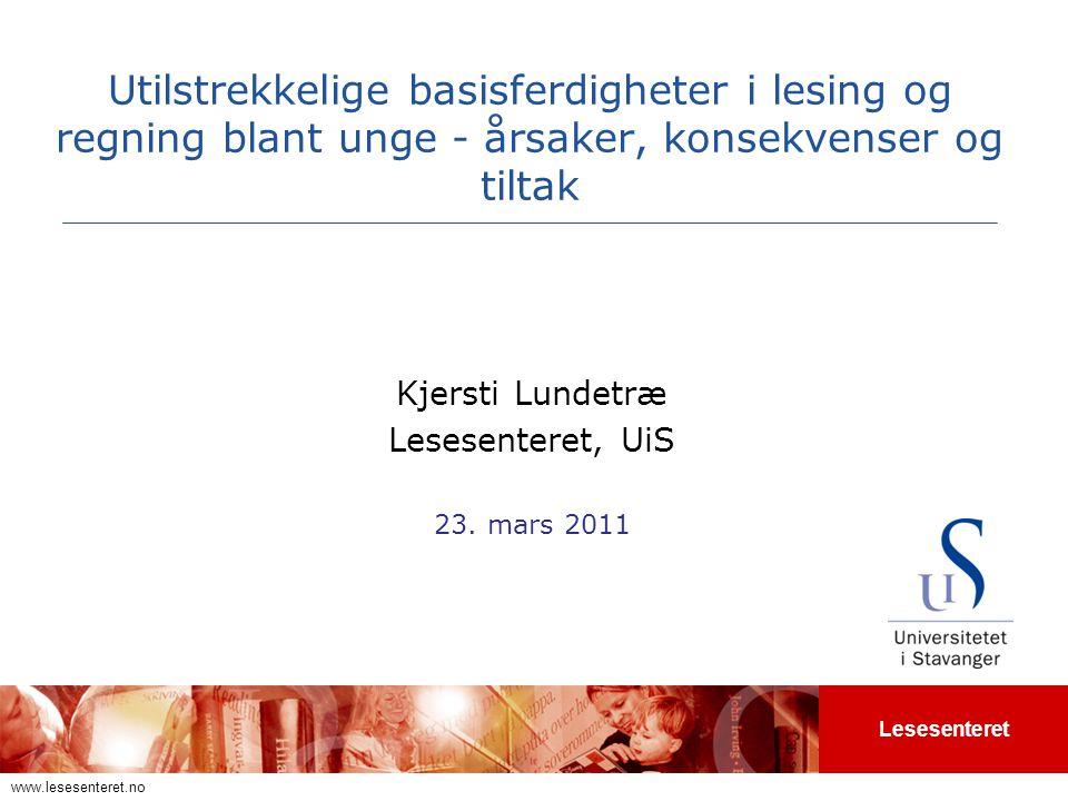 Kjersti Lundetræ Lesesenteret, UiS 23. mars 2011