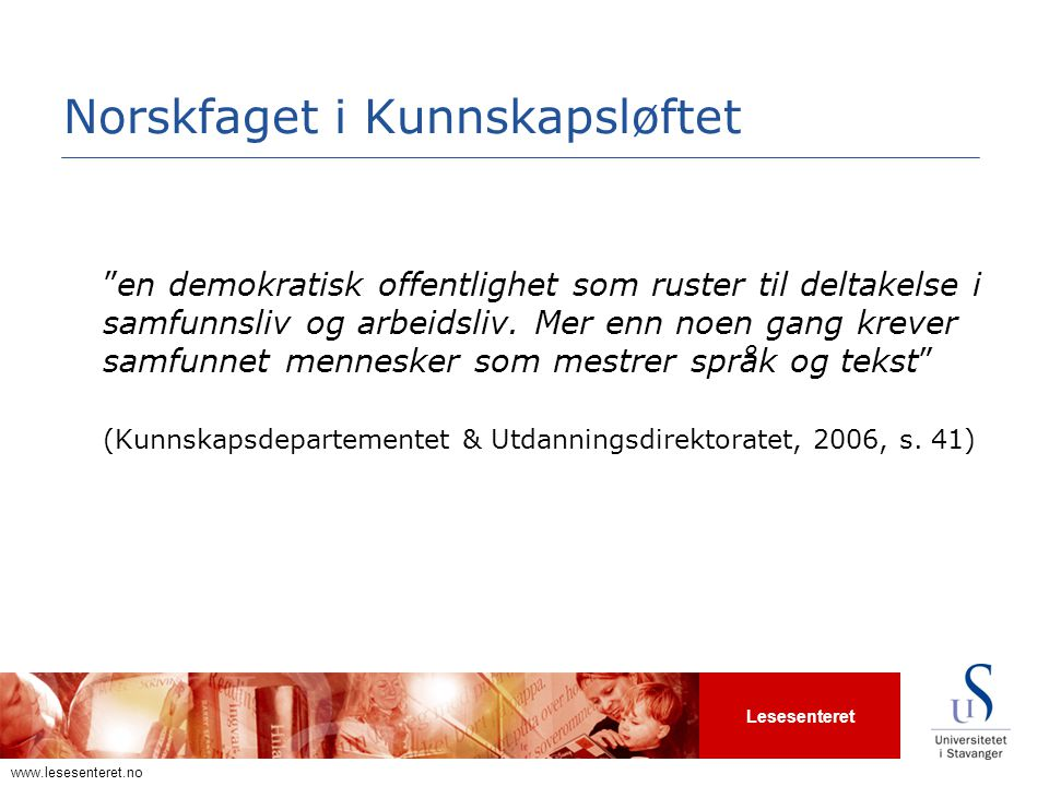 Norskfaget i Kunnskapsløftet
