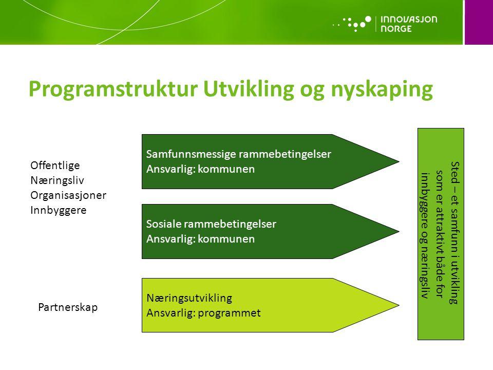 Programstruktur Utvikling og nyskaping