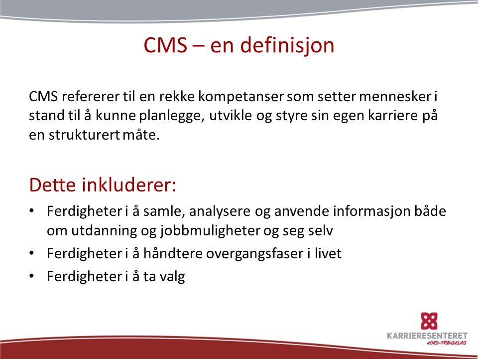 CMS – en definisjon Dette inkluderer: