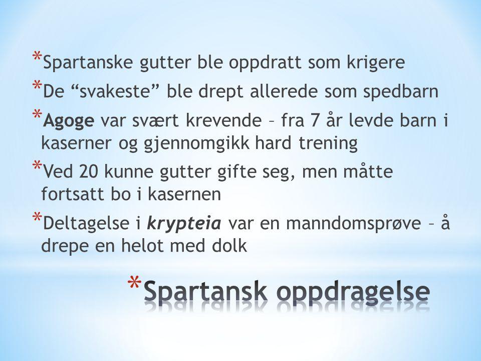 Spartansk oppdragelse