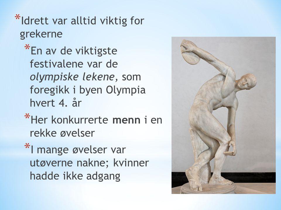 Idrett var alltid viktig for grekerne