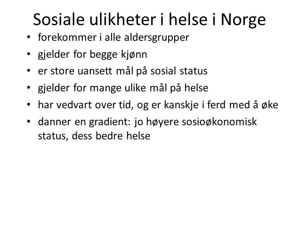 Sosiale ulikheter i helse i Norge