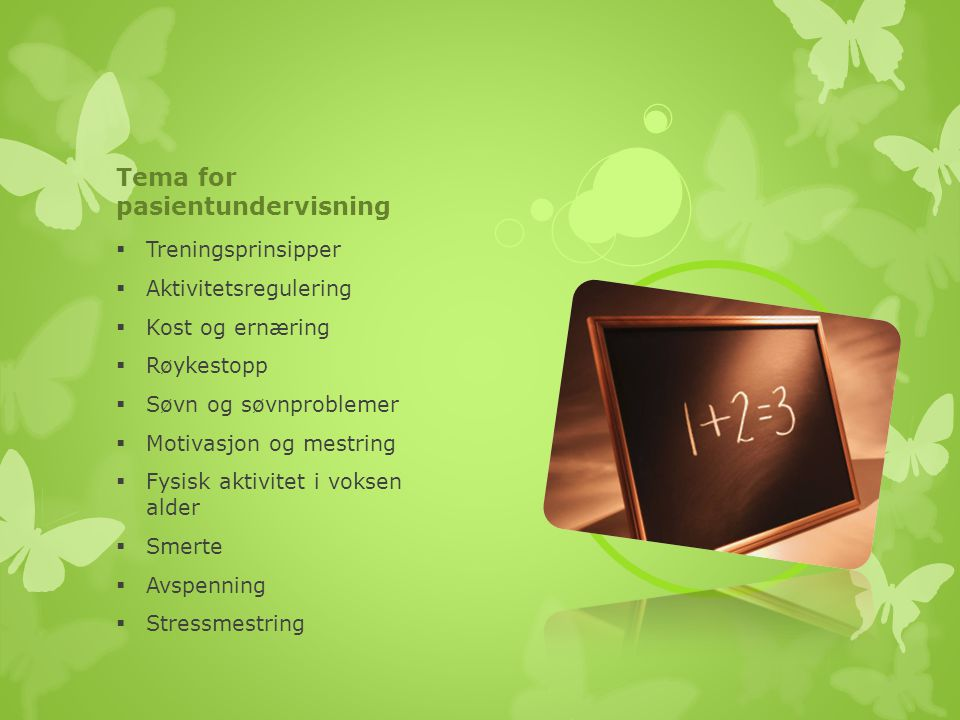Tema for pasientundervisning