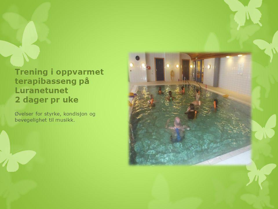 Trening i oppvarmet terapibasseng på Luranetunet