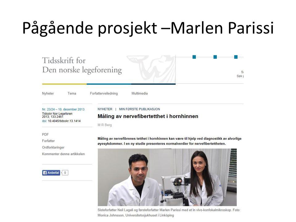 Pågående prosjekt –Marlen Parissi