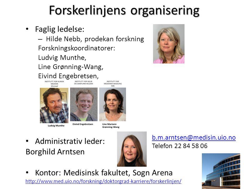 Forskerlinjens organisering
