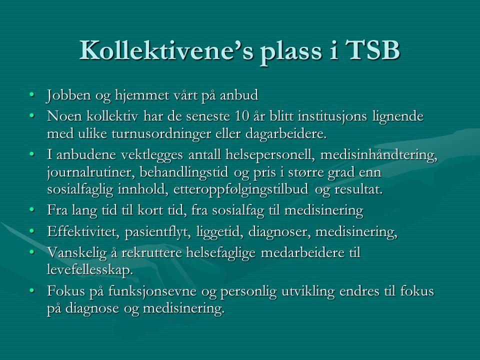 Kollektivene's plass i TSB