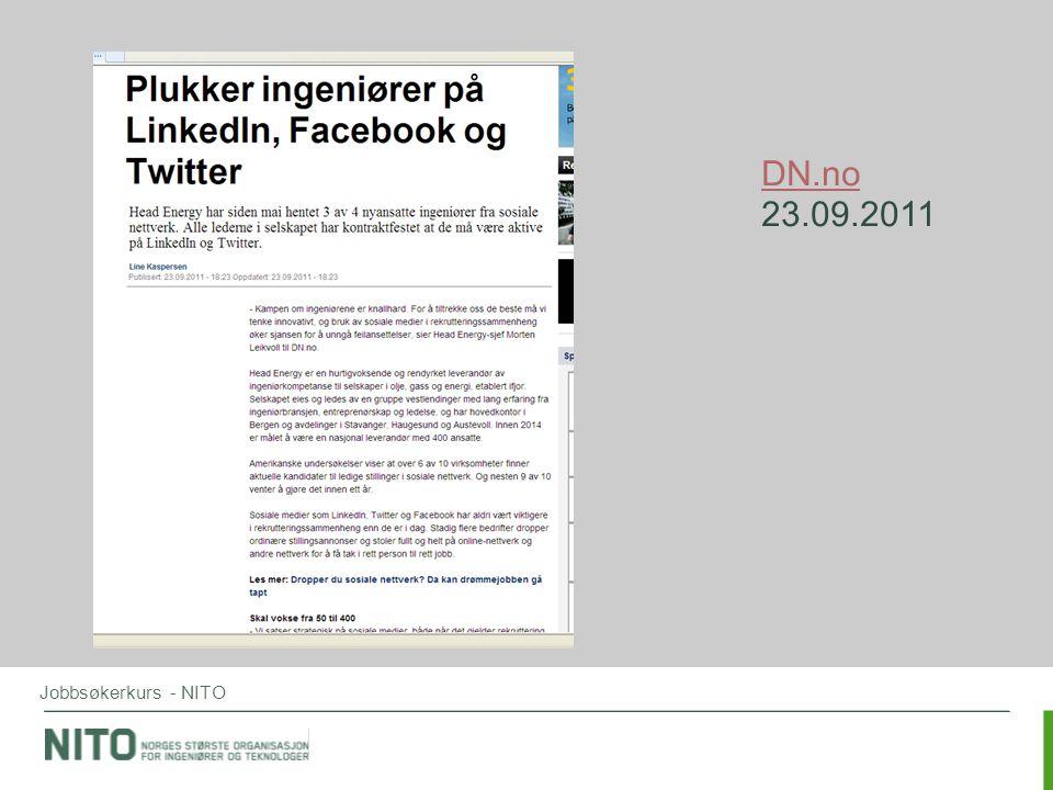DN.no 23.09.2011 Jobbsøkerkurs - NITO