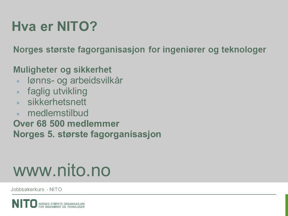 www.nito.no Hva er NITO lønns- og arbeidsvilkår faglig utvikling