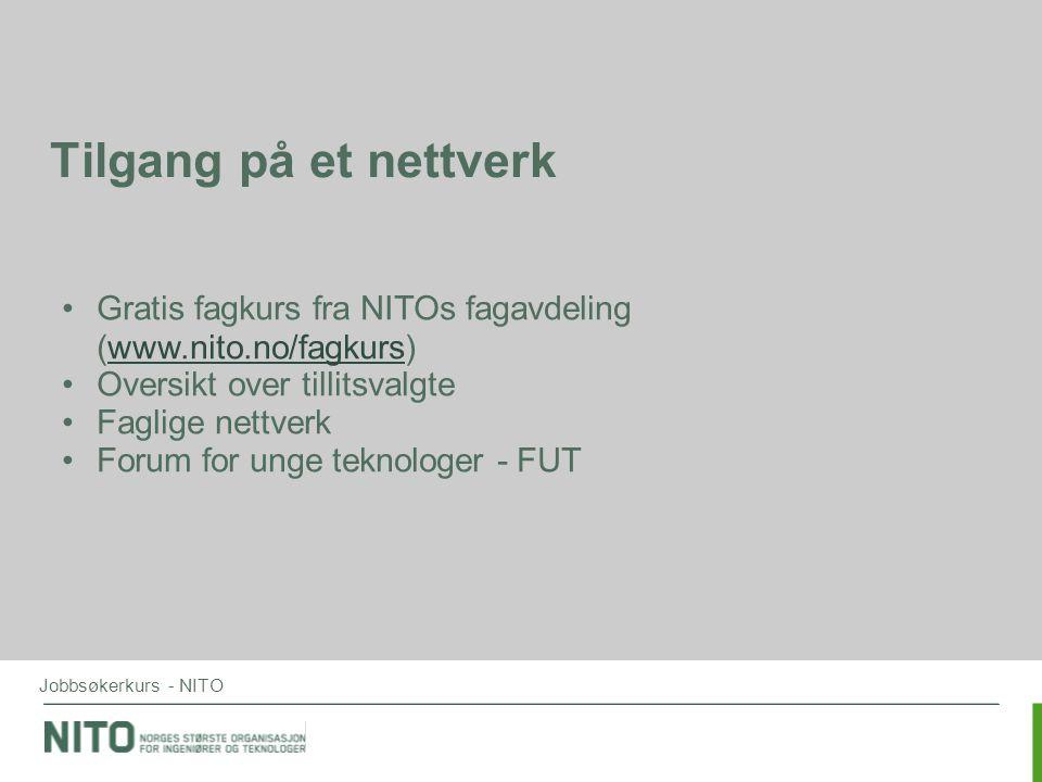 Tilgang på et nettverk Gratis fagkurs fra NITOs fagavdeling