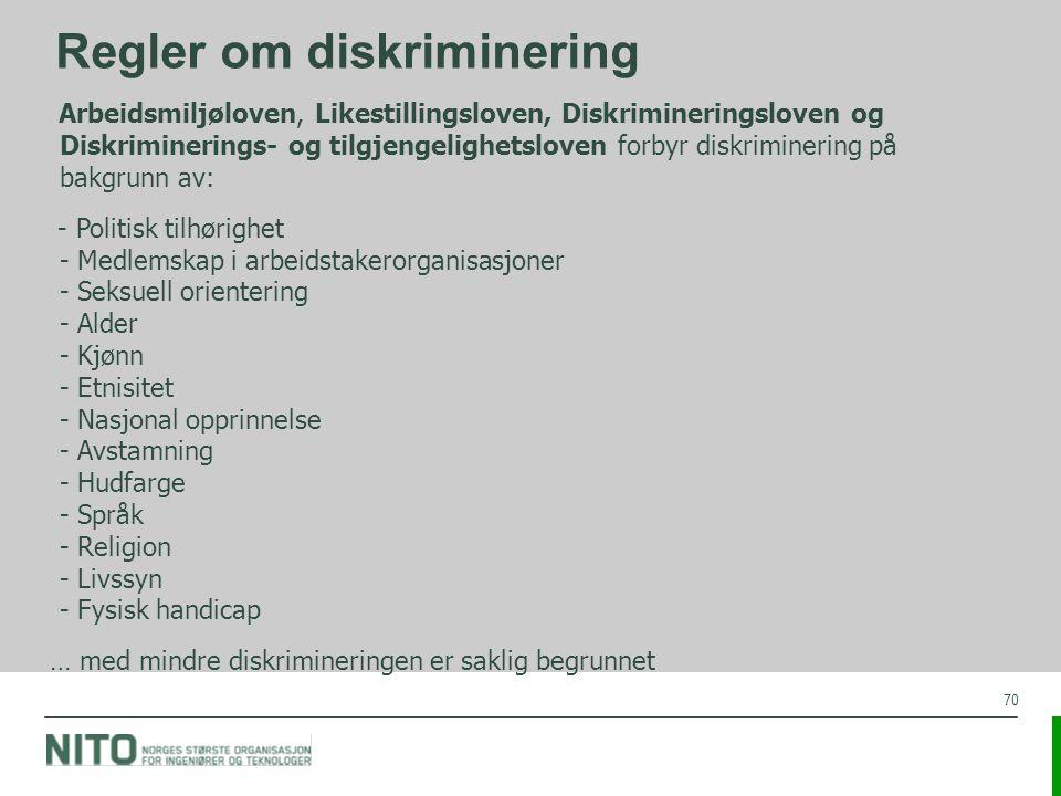 Regler om diskriminering