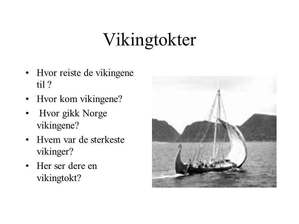 Vikingtokter Hvor reiste de vikingene til Hvor kom vikingene