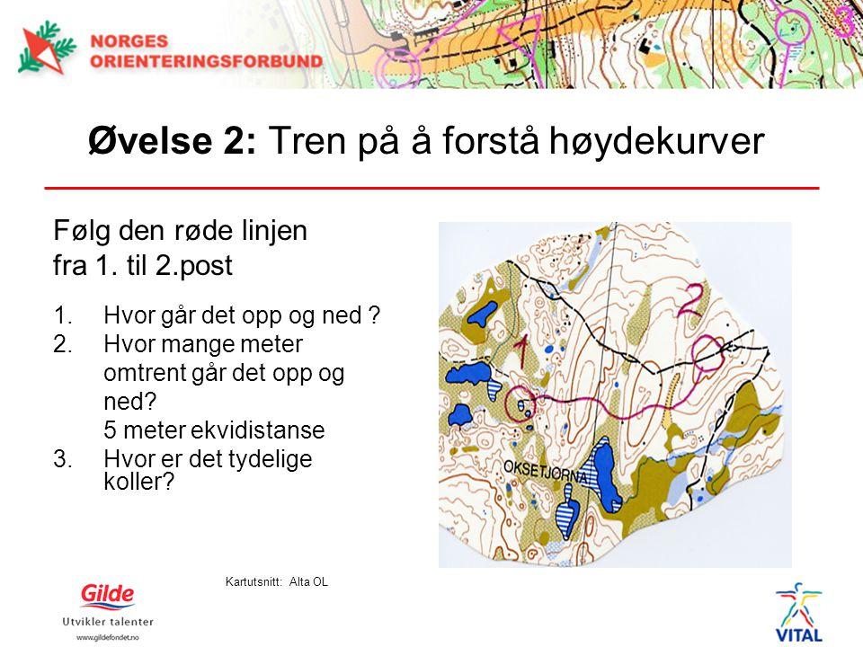 Øvelse 2: Tren på å forstå høydekurver