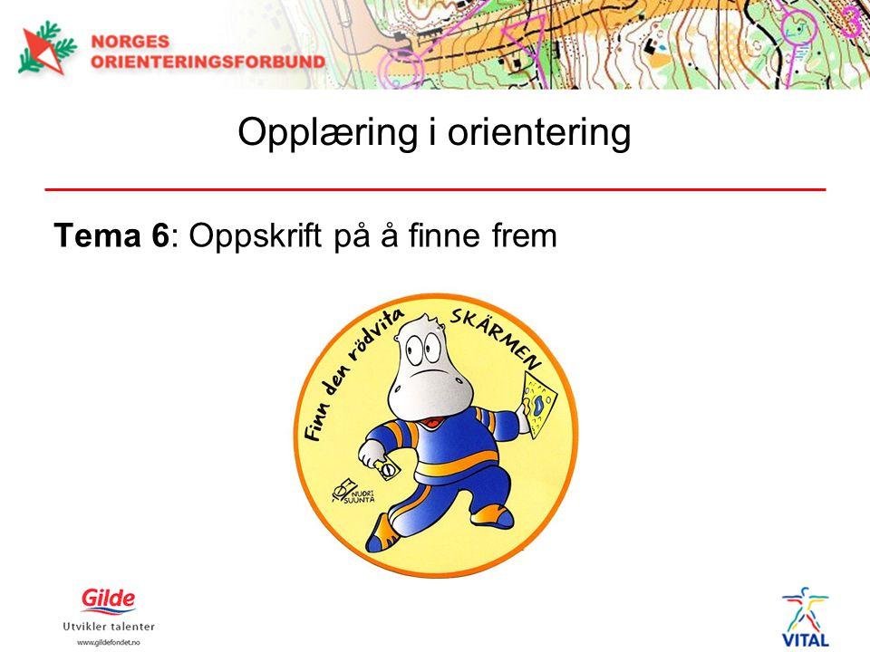 Tema 6: Oppskrift på å finne frem
