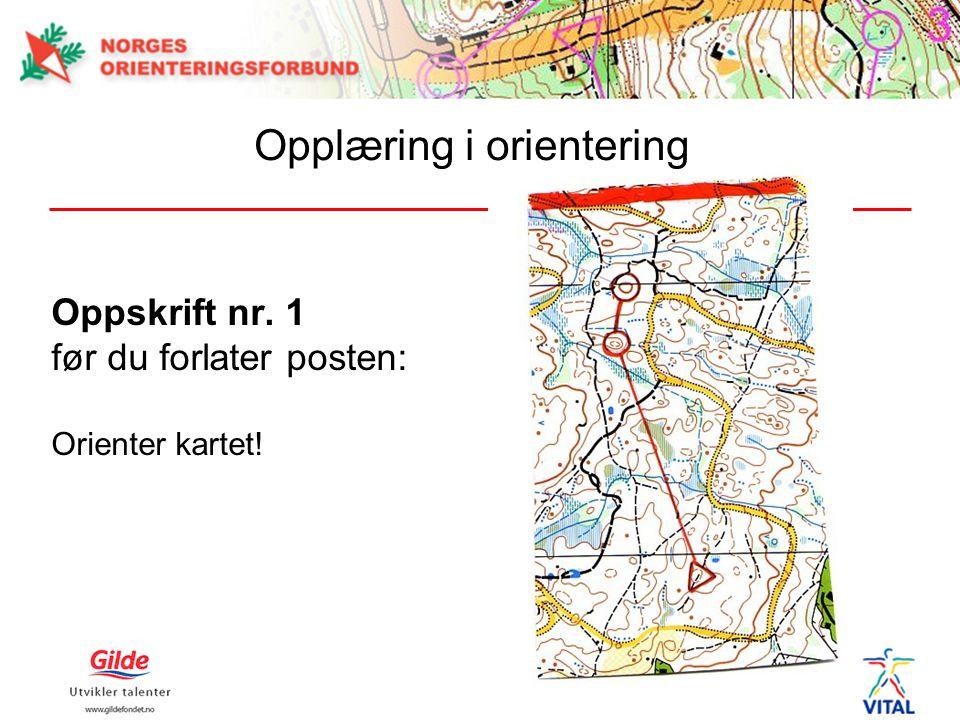Oppskrift nr. 1 før du forlater posten: Orienter kartet!