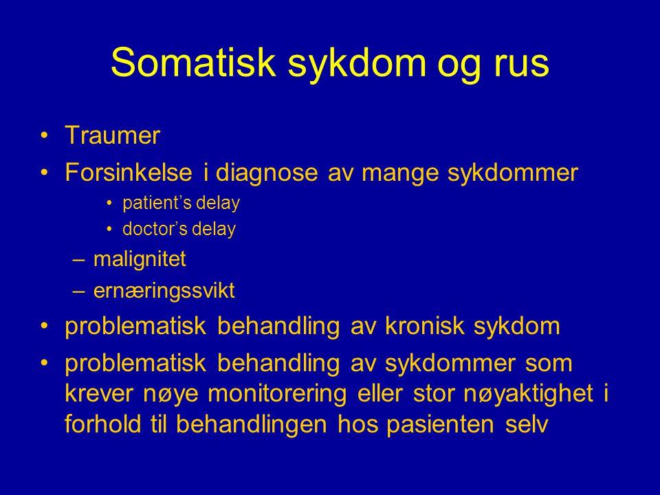 Somatisk sykdom og rus Traumer
