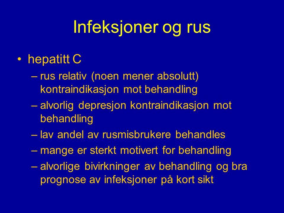 Infeksjoner og rus hepatitt C