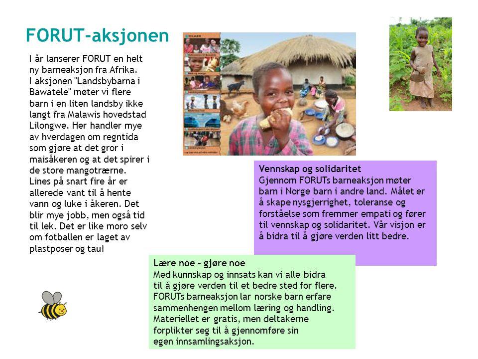 FORUT-aksjonen I år lanserer FORUT en helt ny barneaksjon fra Afrika.