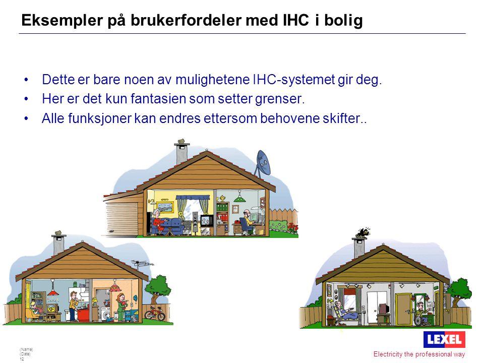 Eksempler på brukerfordeler med IHC i bolig