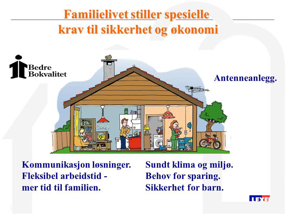 Familielivet stiller spesielle krav til sikkerhet og økonomi