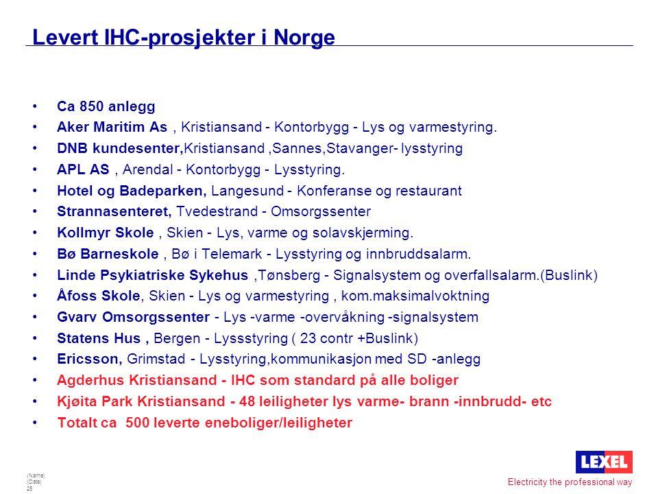 Levert IHC-prosjekter i Norge