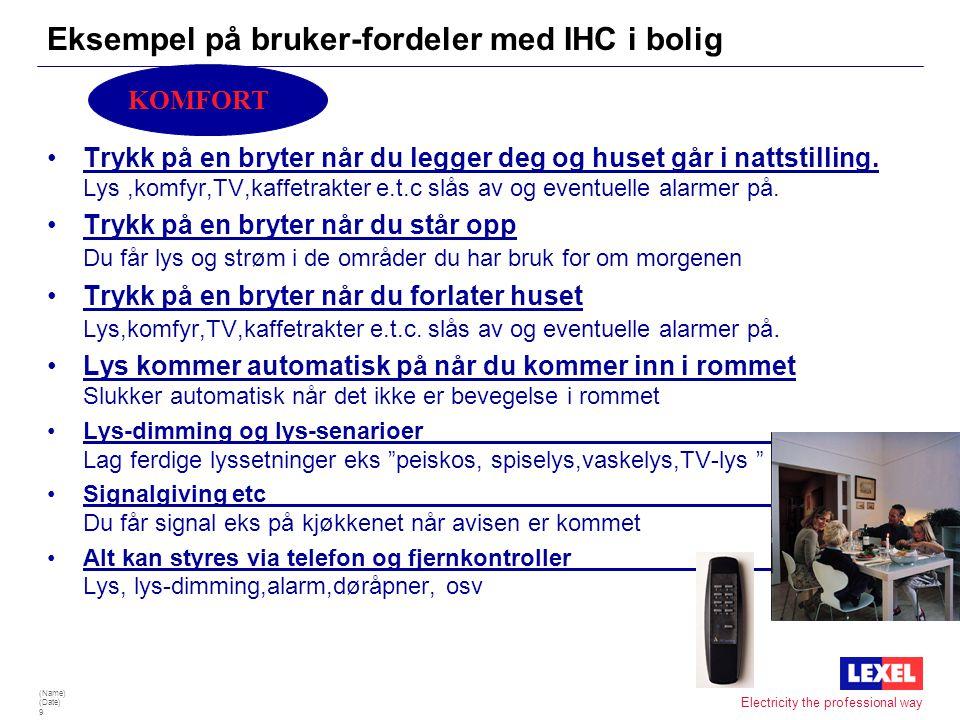 Eksempel på bruker-fordeler med IHC i bolig