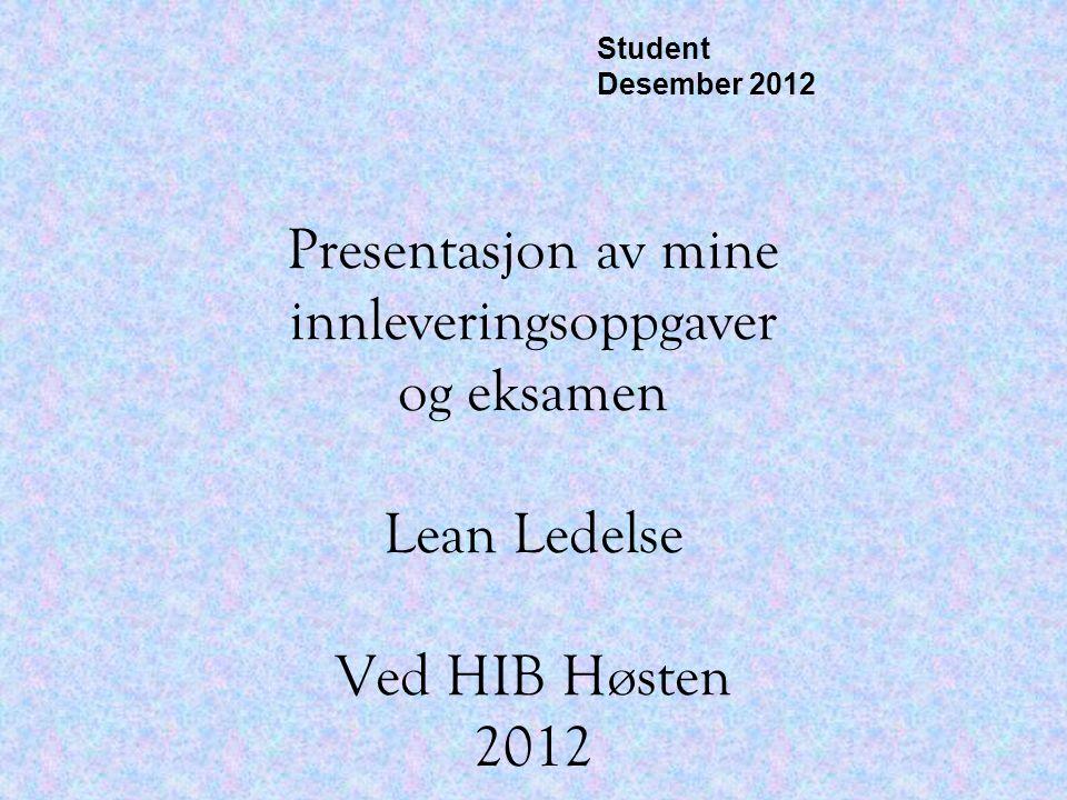 Student Desember 2012.