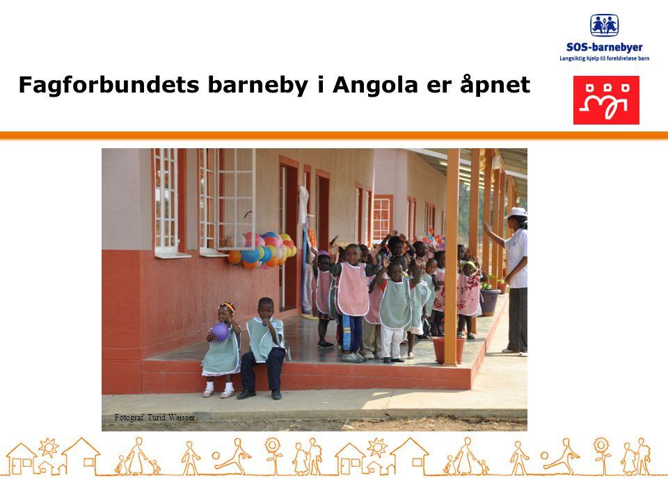 Fagforbundets barneby i Angola er åpnet