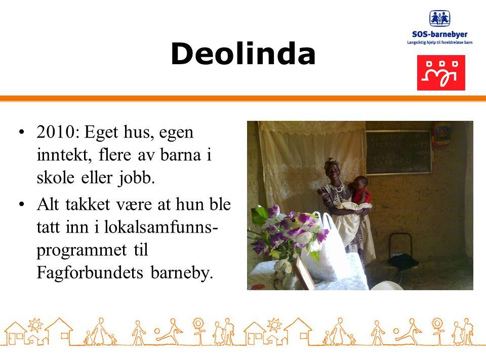 Deolinda 2010: Eget hus, egen inntekt, flere av barna i skole eller jobb.