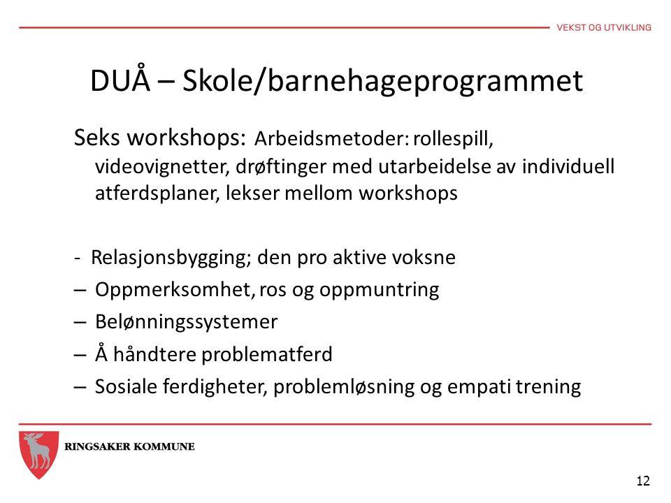 DUÅ – Skole/barnehageprogrammet
