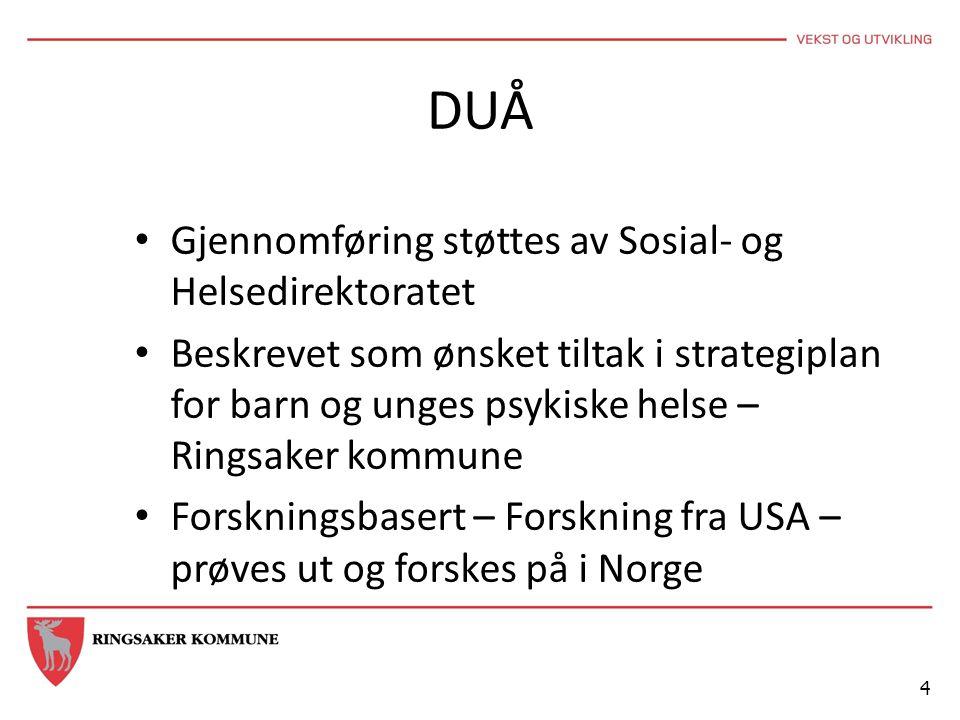 DUÅ Gjennomføring støttes av Sosial- og Helsedirektoratet