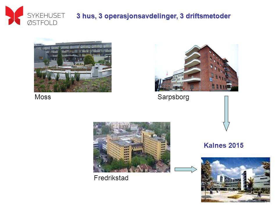 3 hus, 3 operasjonsavdelinger, 3 driftsmetoder