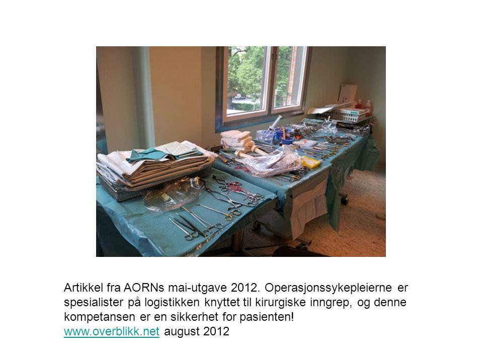 Artikkel fra AORNs mai-utgave 2012
