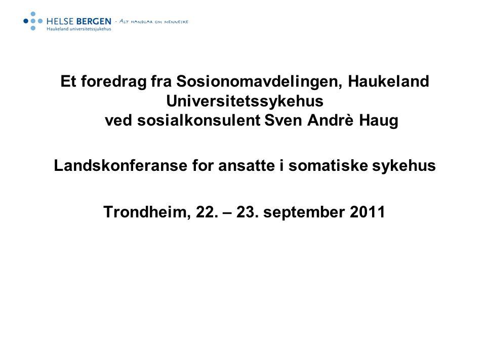 Landskonferanse for ansatte i somatiske sykehus