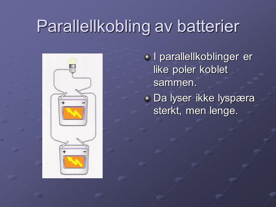 Parallellkobling av batterier