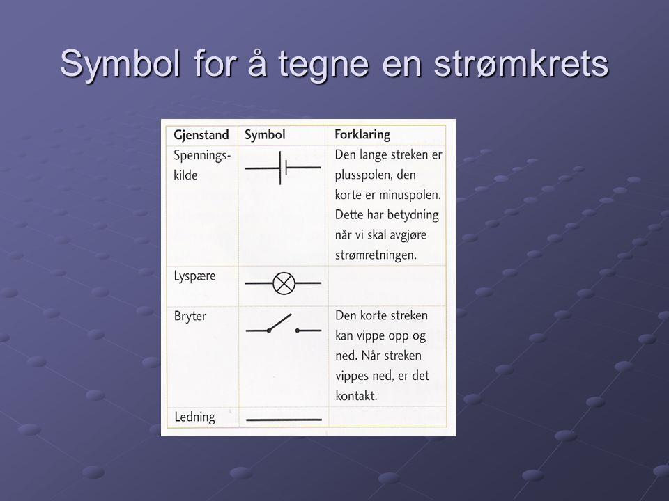 Symbol for å tegne en strømkrets