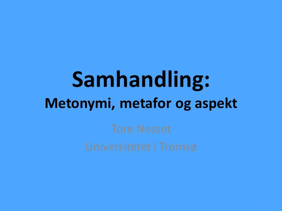 Samhandling: Metonymi, metafor og aspekt
