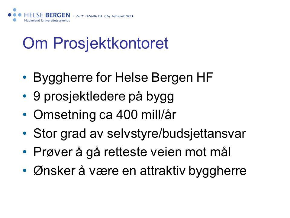 Om Prosjektkontoret Byggherre for Helse Bergen HF