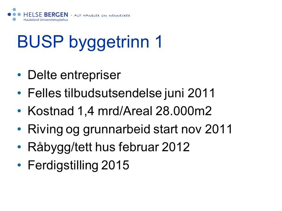 BUSP byggetrinn 1 Delte entrepriser Felles tilbudsutsendelse juni 2011