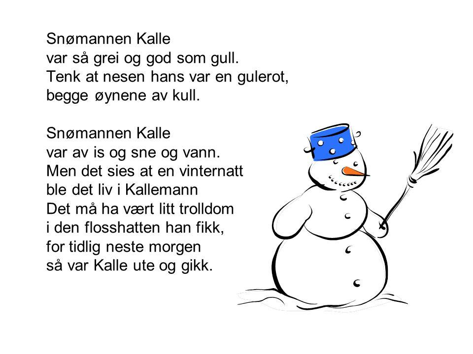 Snømannen Kalle var så grei og god som gull